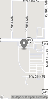 Map of 3720 NW 13th Street in Gainesville