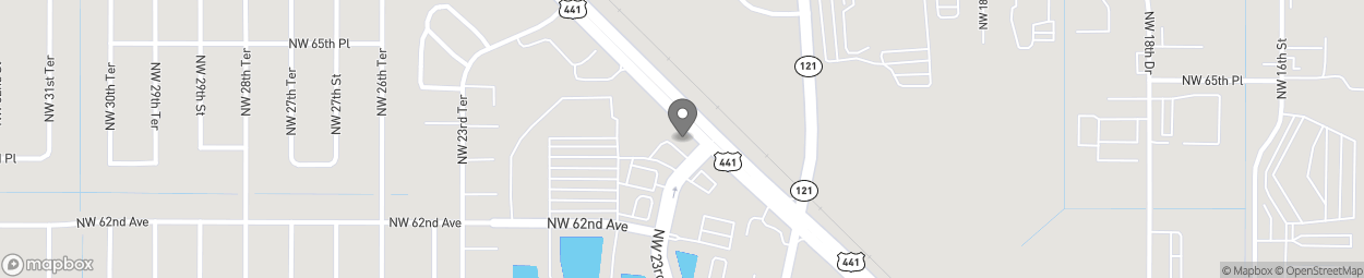 Map of 6392 NW 23rd Street in Gainesville