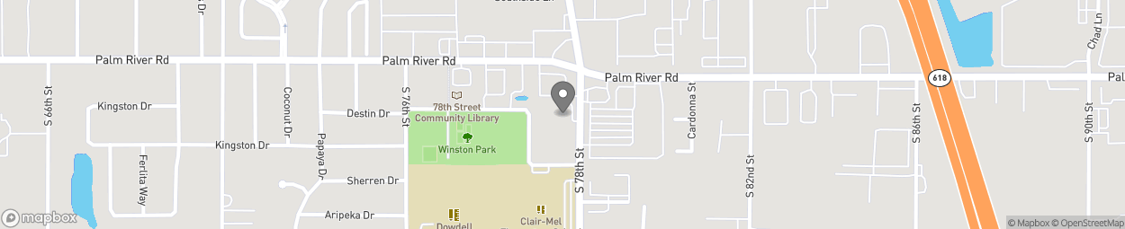 Map of 1009 S 78th Street in Tampa