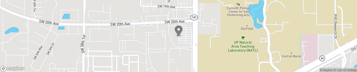 Map of 2018 SW 34th Street in Gainesville