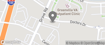 Map of 1003 Grove Road in Greenville