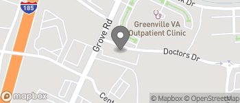 Map of 1003 Grove Rd in Greenville