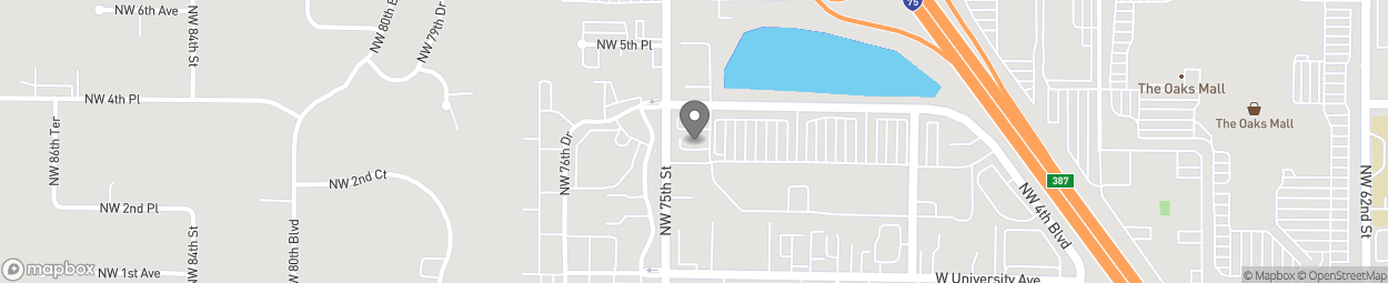 Map of 239 NW 75th Street in Gainesville