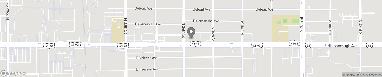 Map of 3402 E Hillsborough Ave in Tampa