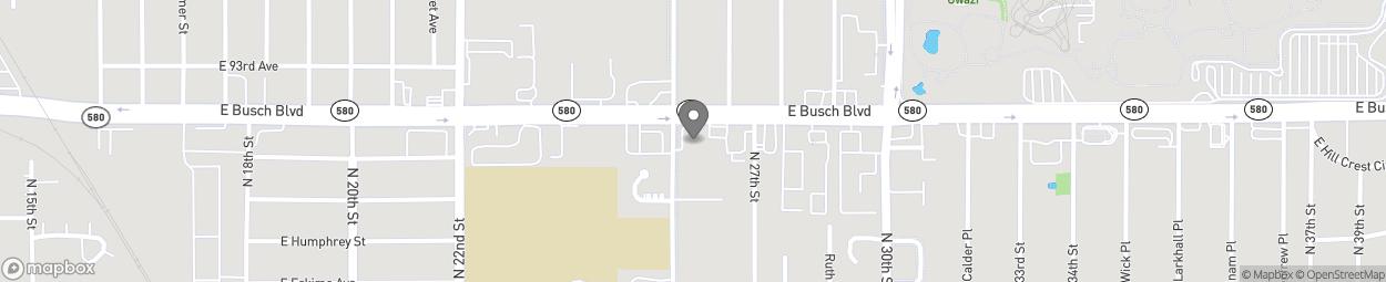 Map of 2603 E Busch Blve in Tampa