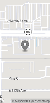 Map of 2351 E Fowler Ave in Tampa