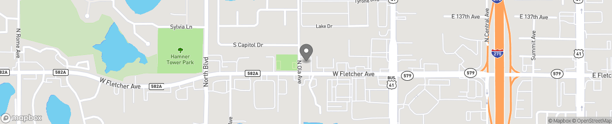 Map of 319 W Fletcher Ave in Tampa
