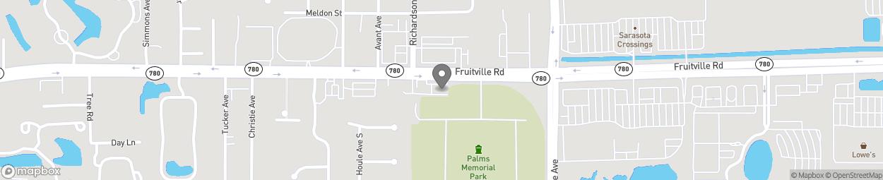 Map of 5060 Fruitville Road in Sarasota