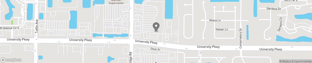 Map of 8421 Lockwoood Ridge in Sarasota