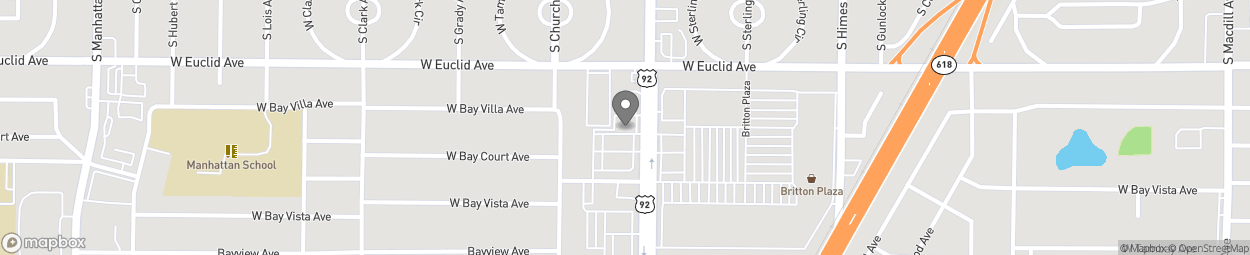 Map of 3823 S Dale Mabry Hwy in Tampa