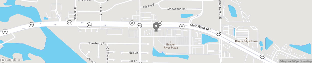 Map of 4304 State Road 64 East in Bradenton