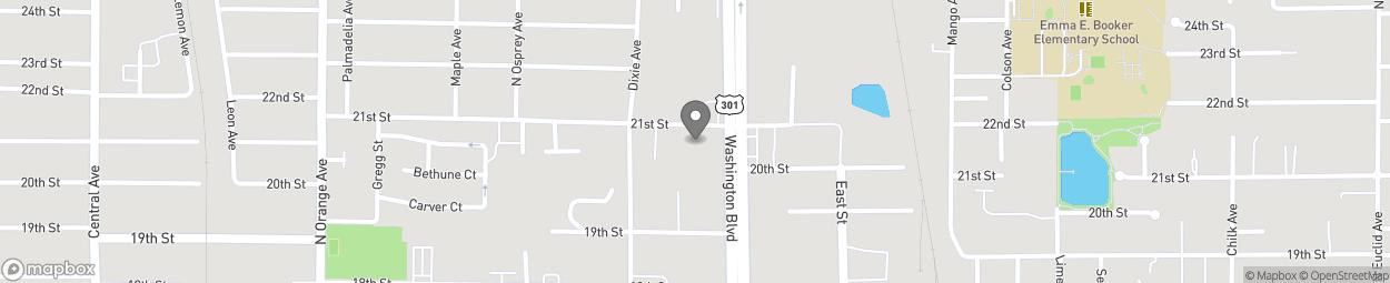 Map of 2035 N Washington Blvd in Sarasota