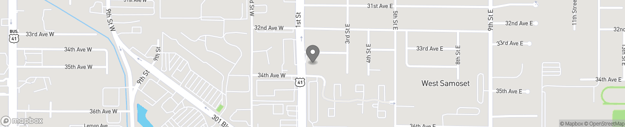 Map of 3333 1st Street East in Bradenton