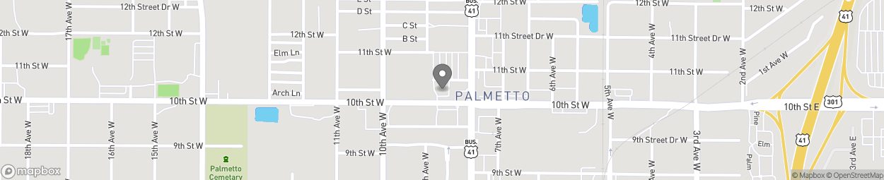 Map of 830 10th St W in Palmetto