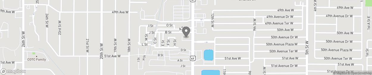 Map of 5014 14th Street W in Bradenton