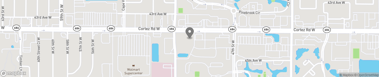 Map of 4955 Cortez Road W in Bradenton