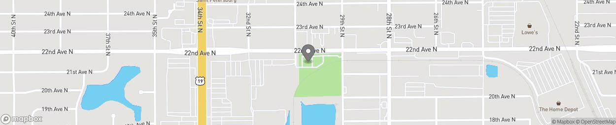 Map of 3050 22nd Avenue North in Saint Petersburg