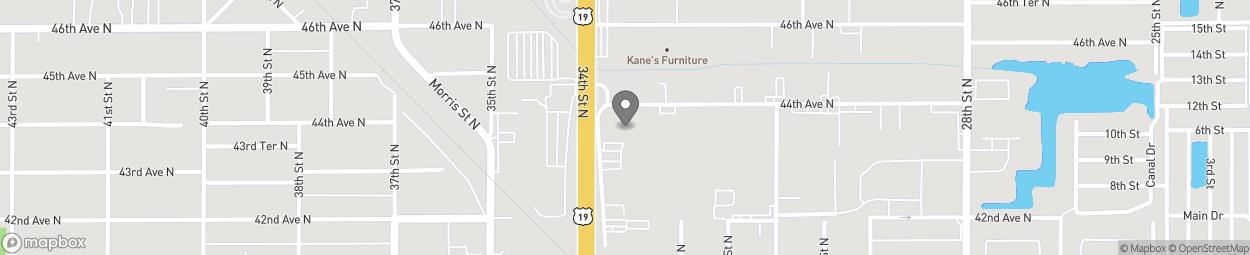 Map of 4351 34th Street North in Saint Petersburg