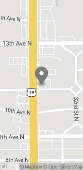 Map of 1101 34th Street North in St. Petersburg