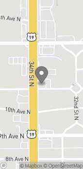 Mapa de 1101 34th Street North en St. Petersburg