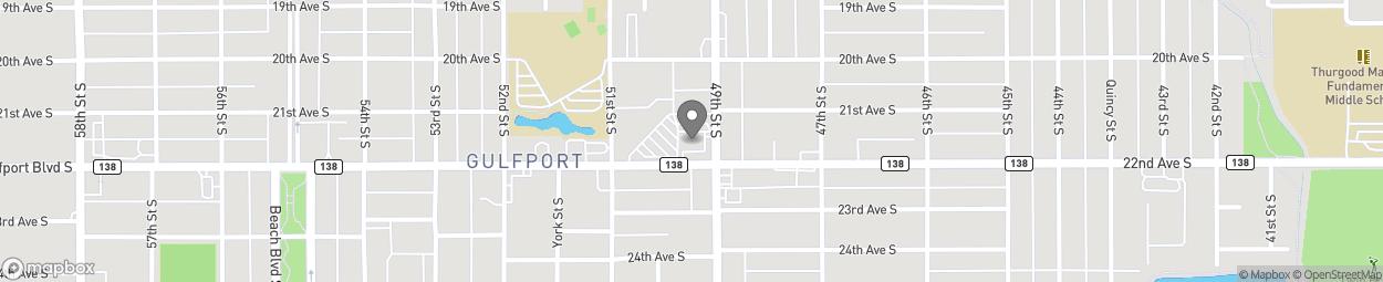 Map of 4901 Gulfport Boulevard in Gulfport