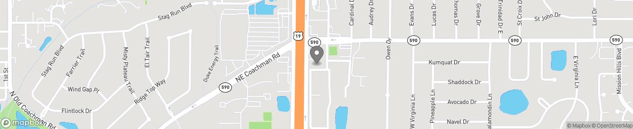 Map of 22991 US Highway 19 N in Clearwater