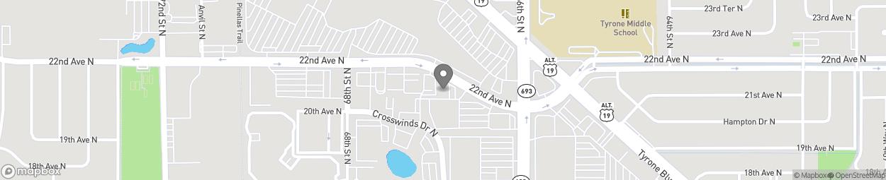 Map of 6666 22nd Ave N in Saint Petersburg