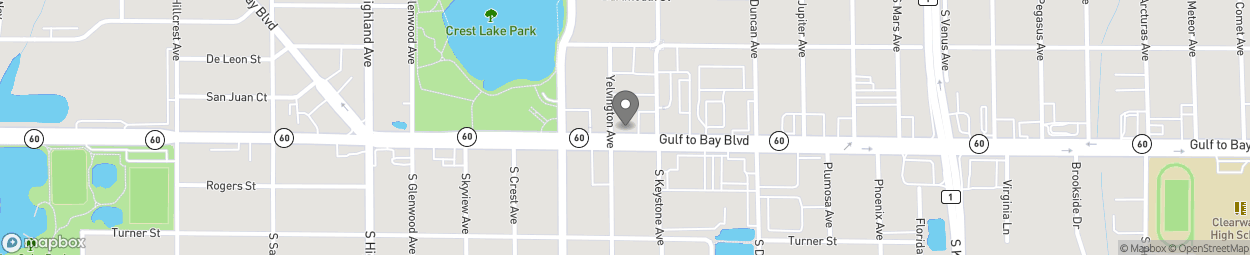 Map of 1620 Gulf To Bay Blvd in Clearwater