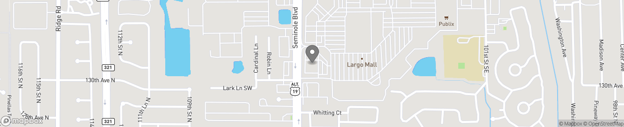 Map of 13015 Seminole Blvd in Largo