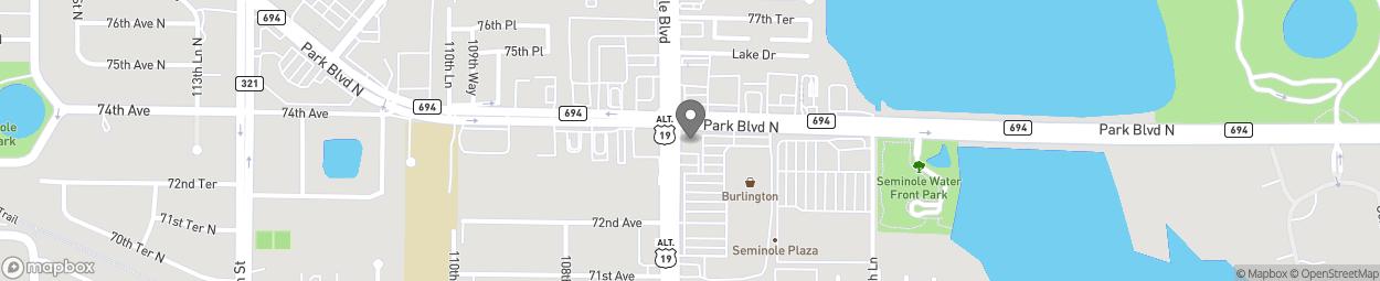 Map of 7399 Seminole Blvd in Seminole