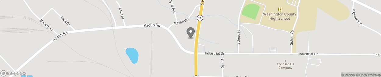 Map of 830 S Harris St in Sandersville