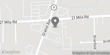 Mapa de 25522 21 Mile Road en Chesterfield
