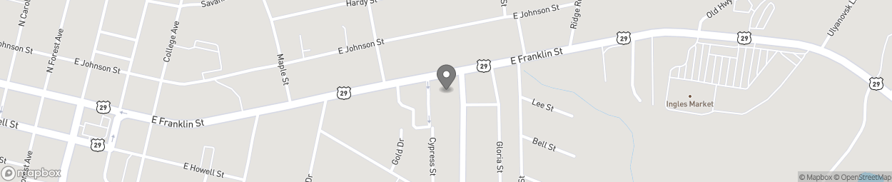 Map of 580 East Franklin Street in Hartwell