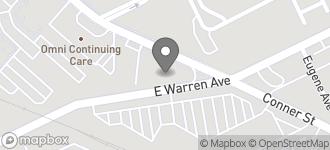 Map of 11965 E. Warren in Detroit