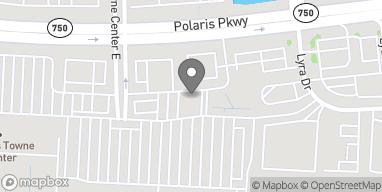 Map of 1495 Polaris Parkway in Columbus