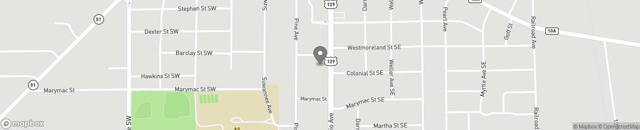 Map of 1006 S Ohio Avenue in Live Oak