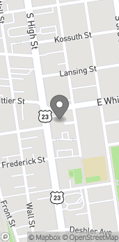 Mapa de 900 S High Street en Columbus