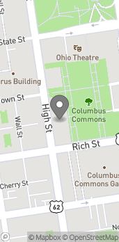 Map of 210 S High St in Columbus