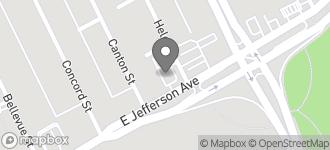 Map of 6931 E. Jefferson in Detroit