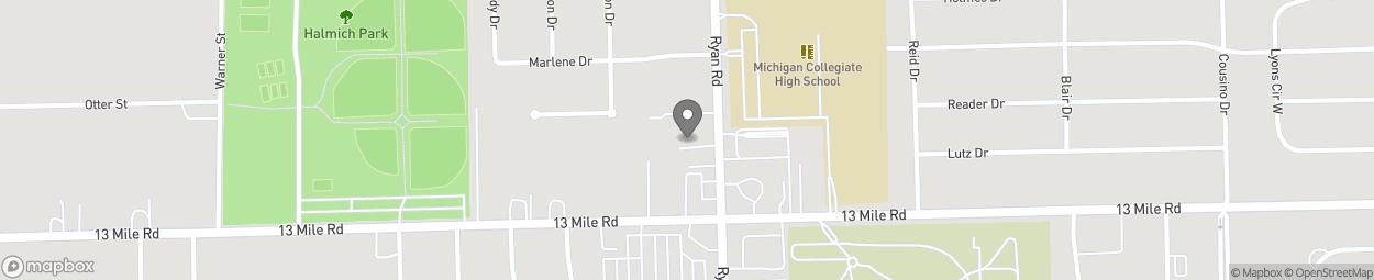 Carte de 31135 Ryan Road à Warren