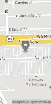 Map of 1347 8 Mile Rd in Highland Park