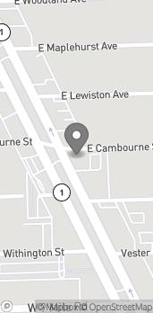 Mapa de 23062 Woodward Avenue en Ferndale