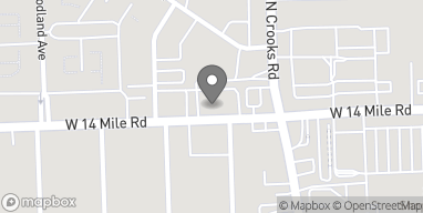 Map of 1800 W 14 Mile Rd in Royal Oak