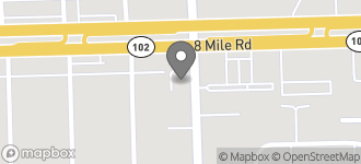 Map of 13611 W. 8 Mile Road in Detroit
