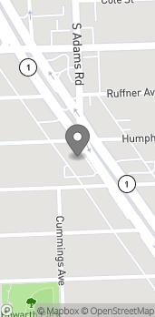 Map of 33729 Woodward Ave in Birmingham