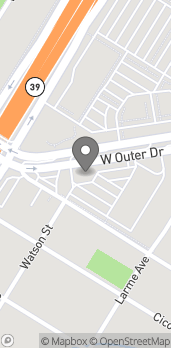 Map of 23060 W Outer Dr in Allen Park