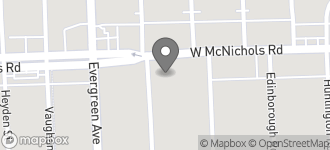Map of 19741 W. McNichols Road in Detroit