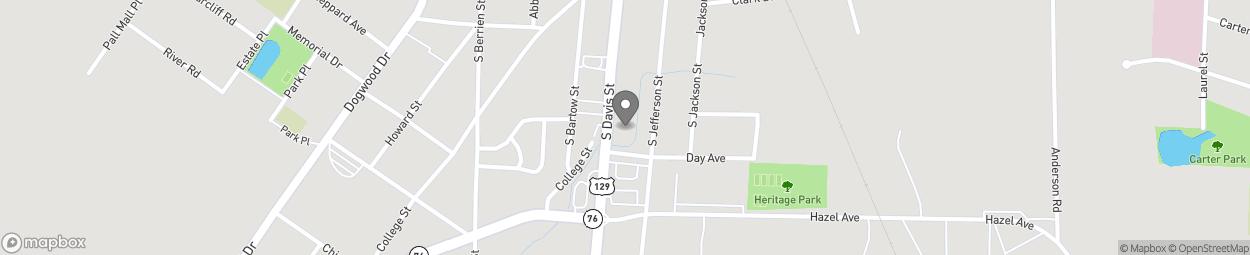 Map of 520 South Davis Street in Nashville