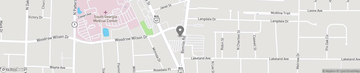 Map of 2145 N Ashley St in Valdosta