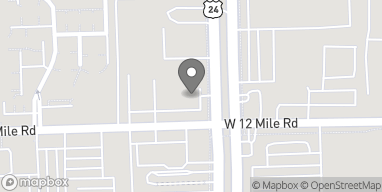 Map of 24500 W 12 Mile Rd in Southfield